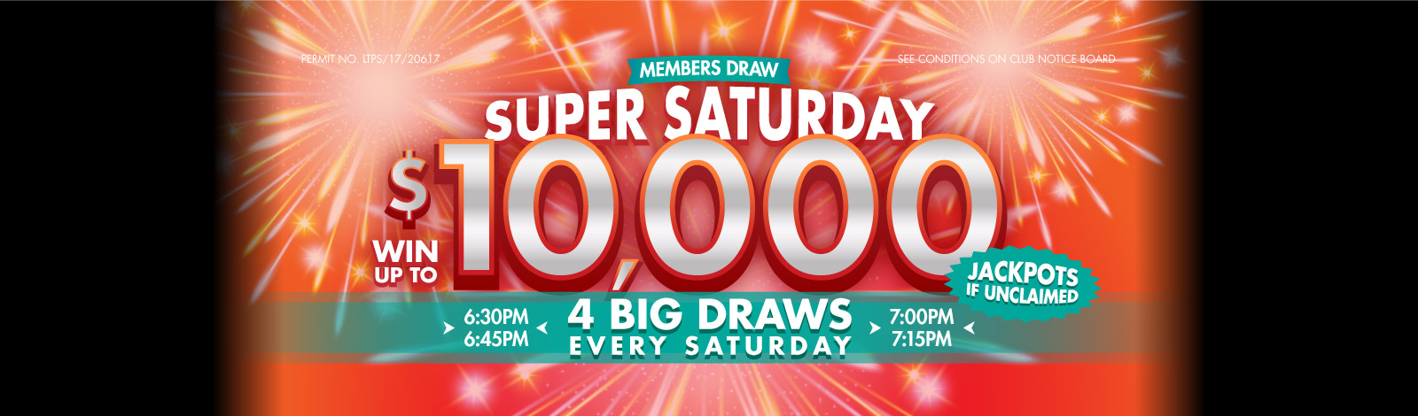 Super Saturday $10000 Jackpot Slider